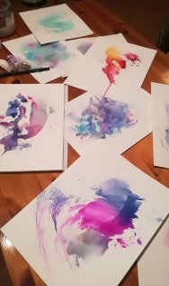 Nächtliche Werkstatt. Kreative Prozess. (c) Manuela Sies