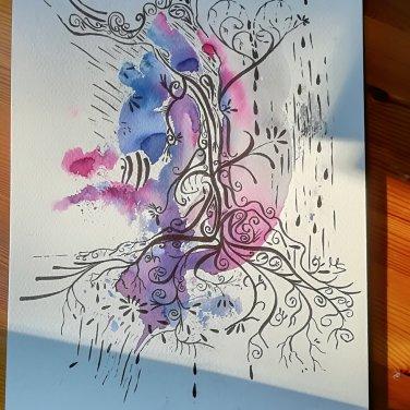 """Zufallsprodukt """"Leben"""". Zeichnung, © Manuela Sies"""