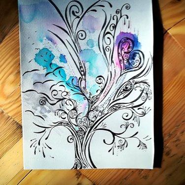 """Zufallsprodukt """"Alles."""", Zeichnung. ©Manuela Sies"""