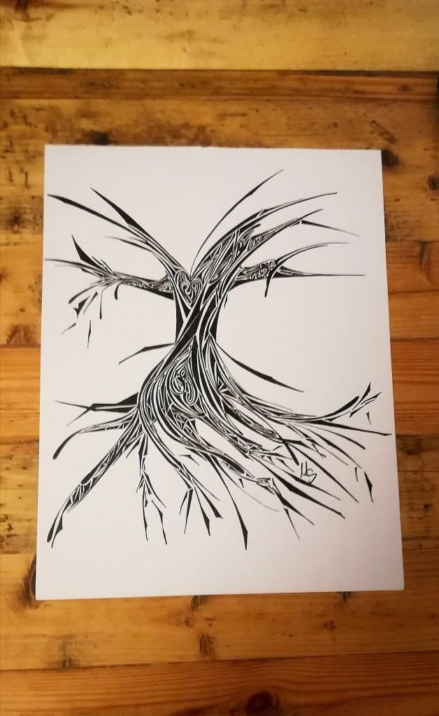 Schwarz auf Weiß#3. Zeichnung. M. Sies