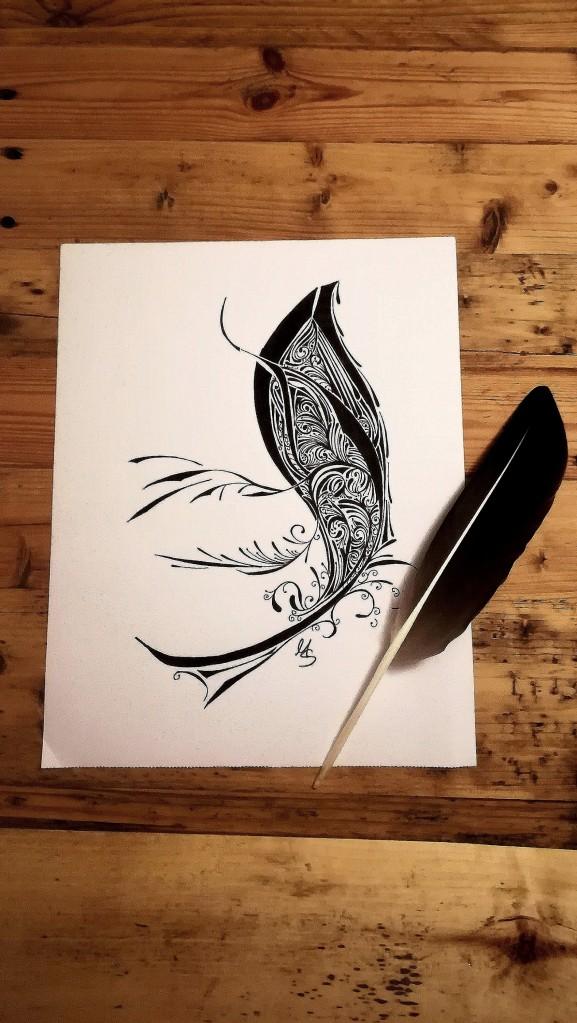 Schwarz auf Weiß#2. Zeichnung. M. Sies