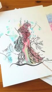 """Zufallsprodukt """"Phantasie"""". Zeichnung Manuela Sies"""