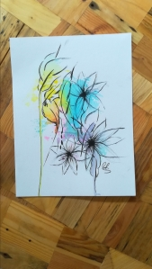 """Zufallsprodukt """"Sommer"""". Zeichnung, Manuela Sies"""